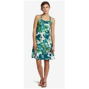 prAna XS Quinn Dress Green/White Printed Mini EUC